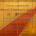 "Artists' Cooperative Gallery 35th Anniversary ""Red Carpet"" Exhibition"