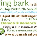 Spring Bark in the Park -- fun for your family and pets!