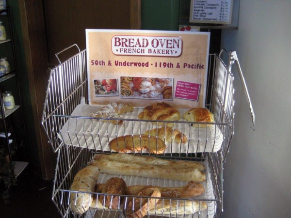 Fresh breads arrive daily from the Bread Oven in Omaha