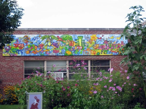 Garden mural at Western Hills Magnet Center