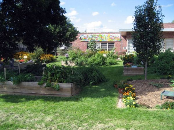 North side of the garden at Western Hills Magnet Center