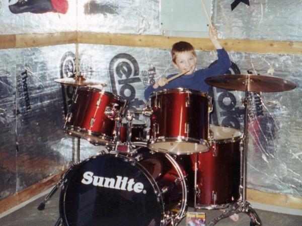 Josh Drumming at Age 8