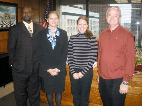 Omaha's new AmeriCorps VISTA volunteers from left: Reginald Holt, Sr., Jessie Bowman, Jessica Clem, and Craig Howell.