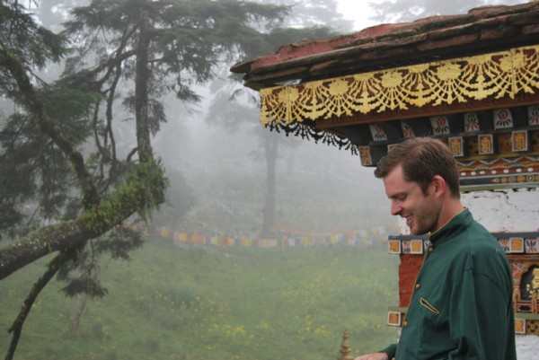 Chris Guillebeau relaxing in Bhutan