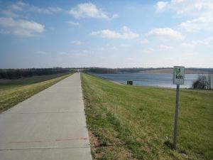 Foot Path at Zorinsky Lake Park in West Omaha