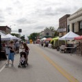 Vendors and activities at the Benson SummerFest