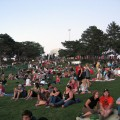 The crowd enjoys a free show at the annual Mem Park Concert