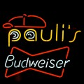 neon sign at Pauli's