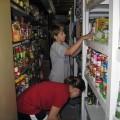 Volunteers working on Thanksgiving
