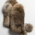 Rabbit fur mittens by Coach