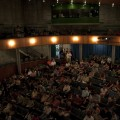 The crowd at the Lied Education Center for the Arts at Creighton University