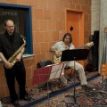 Jazz duo at the reception following Rabbit Hole