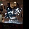Neon sign for Sailor Jerry Spiced Rum