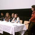 Beth Katz of Project Interfaith lead a panel discussion following the film