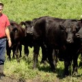 Luke Jacobsen with grass-fed cattle (Range West Beef)