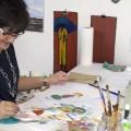 Paula Wallace painting class