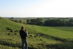 Adam and our youngest son, Manny, looking out over the cow herd