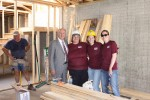 Mayor Jim Suttle volunteers with Habitat for Humanity and Mutual of Omaha