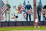 Patriotic mural in Freemont, Nebraska