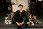 Tim Westergren with piles of music