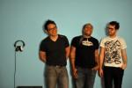 Three of the five members of Omaha DJ crew 1/Fourth