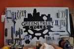 The shiny tools of Greenstreet Cycles, a bike shop in North Downtown Omaha