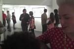 Bridget McQueen + Christine Stormberg enjoy Bemis Underground opening
