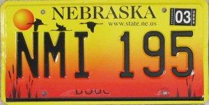 2003 Nebraska License Plate: Sexy!