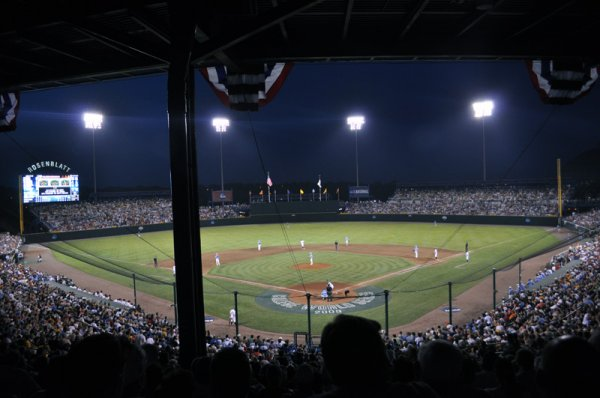 Rosenblatt Stadium at Night