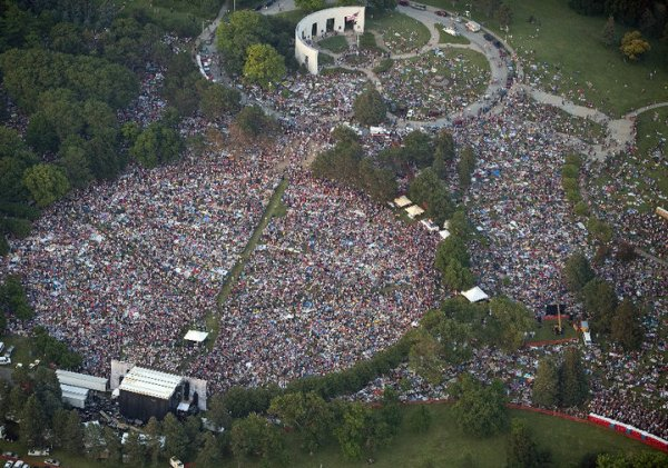 Awesome aerial photo of the Bank of the West Celebrates America Concert