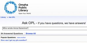 The Library's AskOPL Service