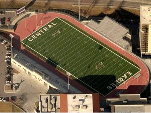 Football stadium at Omaha Central High School