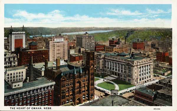 Downtown Omaha - Historical Postcard