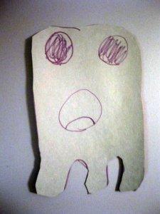 Owen drew a ghost