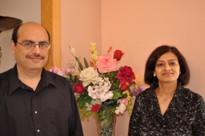 Harish and Natasha, owners of Inscribed Roses