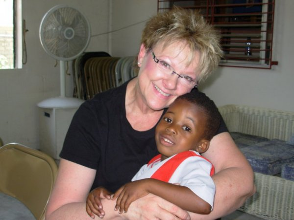 Linda Fries in Haiti