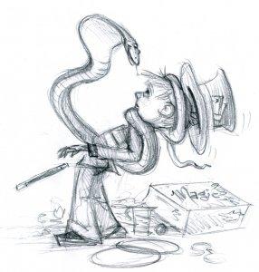 The Magic Trick - Original Illustration