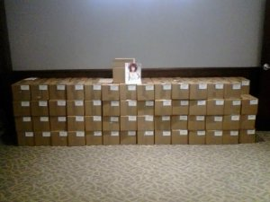 Issues of the Omaha Fashion Magazine ready for distribution