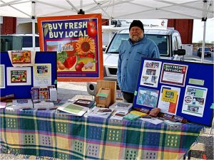 Richard Nemec at Buy Fresh Buy Local Nebraska booth