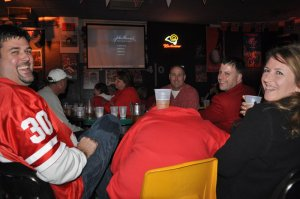 Huskers Fans at the Sidetrack Bar