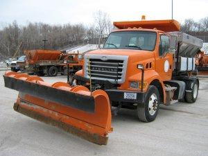 Omaha snow plow truck