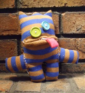 Spud Footman - Sock Monsters by Emily Troe